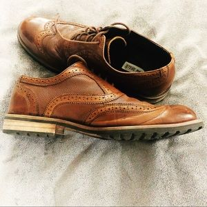Steve Madden Brown Leather Oxford Shoes. Size 9.5